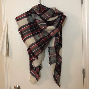 Accessories - Square Flannel Blanket Scarf